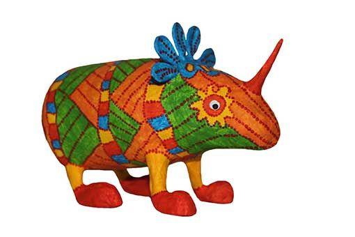 Tutorial como hacer alebrije rinoceronte