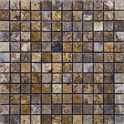 Scabos Tumbled Travertine Mosaic #naturalstone #travertine #pool #poolcoping #gold #ivory #tumbled #polished #chiseled #walnut #noce #light #dark #scabos #bluestone #mocha #home #mosaic #cremamarfil #backsplash #kitchen #wall #bathroom #homeimprovement #decor #design #contractor #construction #flooring #marble #tile #ledger #wholesale #retail #fixerupper