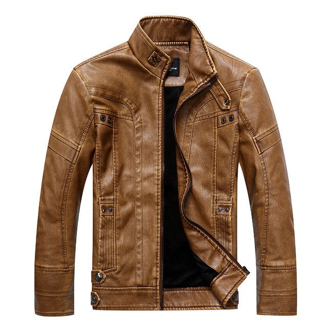 Best Sell Leather Jacket For Men Classic Male Coats High Quality Mens Winter Jackets