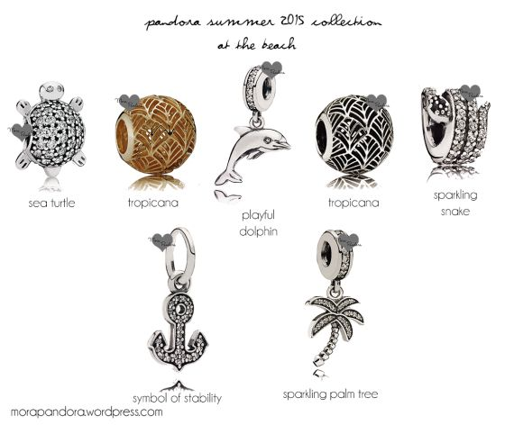 Pandora Summer 2015 beach charms! <3