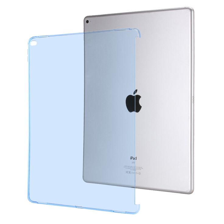 """Casual TPU Back Soft Protect Cover For Apple Pro 12.9 inch Transparent Can See Logo Silicon Tablet Case for iPad Pro 12.9"""" Case"""