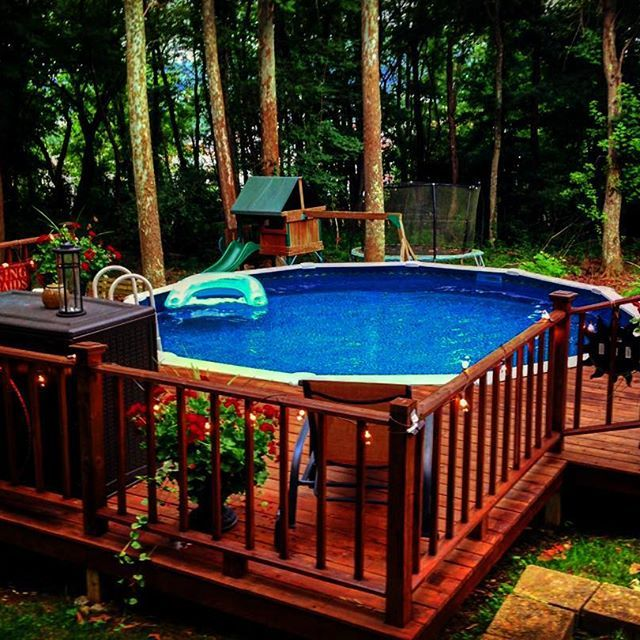Above Ground Pool Deck Ideas Above Ground Pools