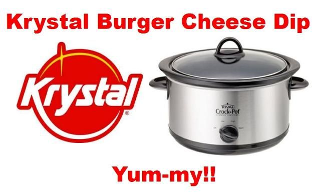 Krystal Burger Cheese Dip - Tastes just like a Krystal or White Castle burger!