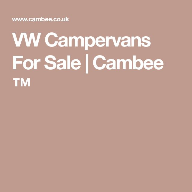 VW Campervans For Sale | Cambee ™