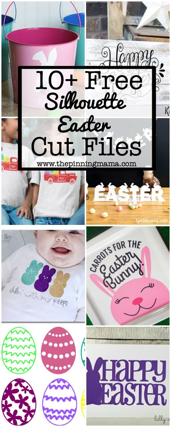 10+ Free Easter Silhouette Cut Files   www.thepinningmama.com