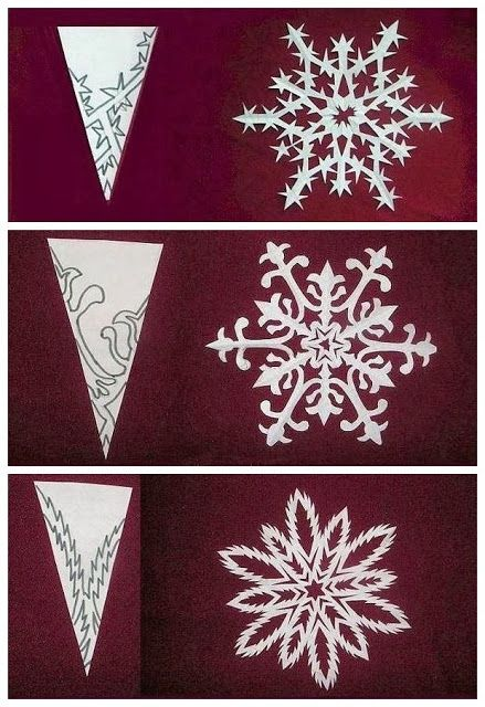 DIY Christmas snowflake. Have my students do this to reflect individuality is beautiful!