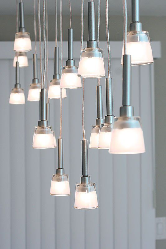 Mini-Pendant Chandelier Made From IKEA Lamps