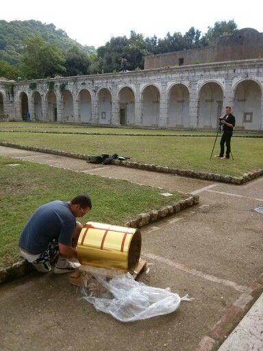 Capri - Alla #CertosadiSanGiacomo l'IGAV al lavoro per l'inaugurazione di domani. Con noi anche l'artista Stefano Cagol! www.igav-art.org