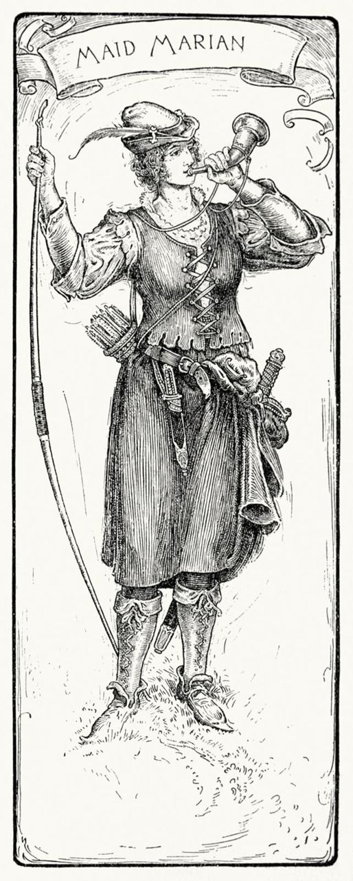 Maid Marian. Louis Rhead, from Bold Robin Hood and his outlaw band, New York, London, 1912. (Source: archive.org)