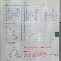 編み図解説|アルファベットの作り方