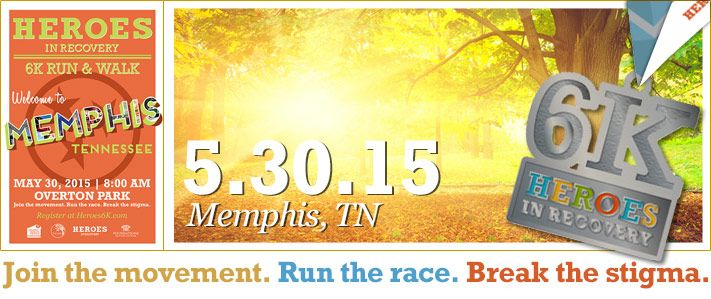 The Heroes in Recovery 6K not only supports everyone who's ever beaten #addiction, but the Church Health Center too! Register now!