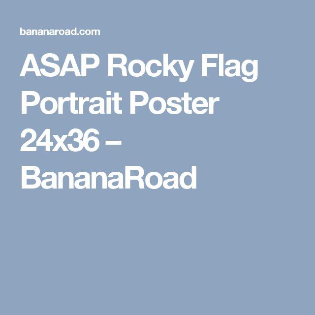 ASAP Rocky Flag Portrait Poster 24x36 – BananaRoad