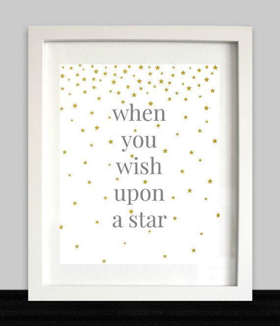 When You Wish Upon A Star Print // Nursery Art // by NothingPanda