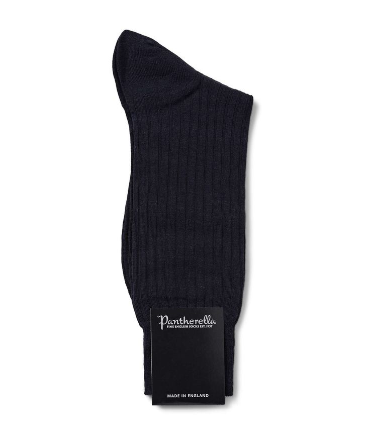 Pantherella Laburnum Merino Wool Socks in Navy