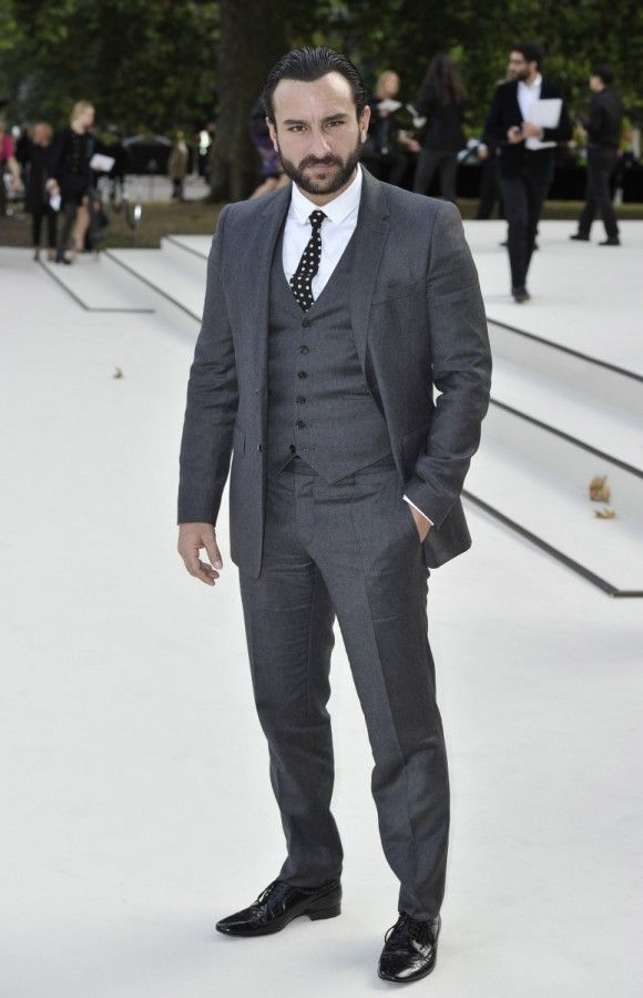 Saif Ali Khan - Burberry Women's SS13 ~ Front Row Special