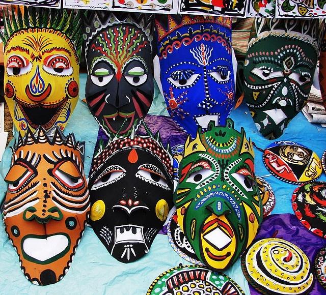Bengal Handicrafts 4: Paper Masks by asis k. chatt, via Flickr