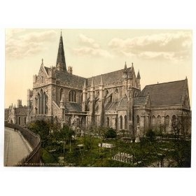 1890s photo St. Patrick`s Cathedral. Dublin. Co. Dublin, Ireland. Photochrom (also called the Aac pr