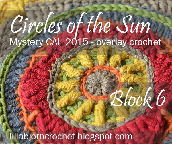 Block 6 from Circles of the Sun CAL - LillaBjörn's Crochet World. Today you will add a 3D flower to your crochet pillow.