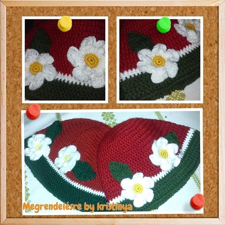 virágos sapkák - hats with flowers