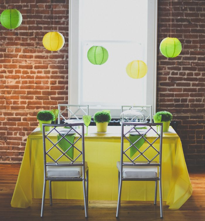 Lime Green And Yellow Summer Soiree Wedding Party Decorations