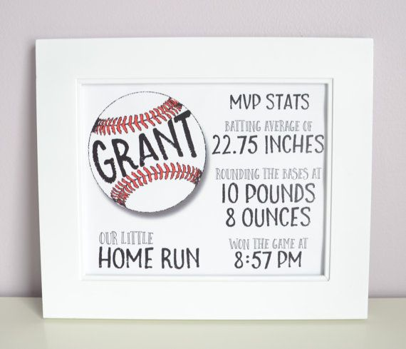 Baseball Theme Nursery, Boys Nursery, Custom Nursery Decor, Sports Theme, Personalized Baby Sign, Newborn, Nursery Wall Decor, Boys Room