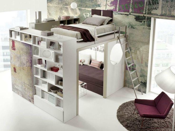 Loft teenage bedroom TIRAMOLLA 910 Tiramolla Collection by TUMIDEI