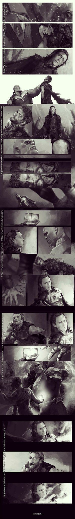 If Loki gives him the Tesseract to save Thor, I would be fine with this. I would still cry because Loki is amazing.