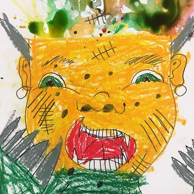 A favorite from today's 2-4th grade class.  These turned into scary scream monsters, but still great!  I like to give kids the basics and then let them add their own special details.  #artclass #artteacher #afterschoolartclass #ps118mauricesendakcommunityschool #ps118art