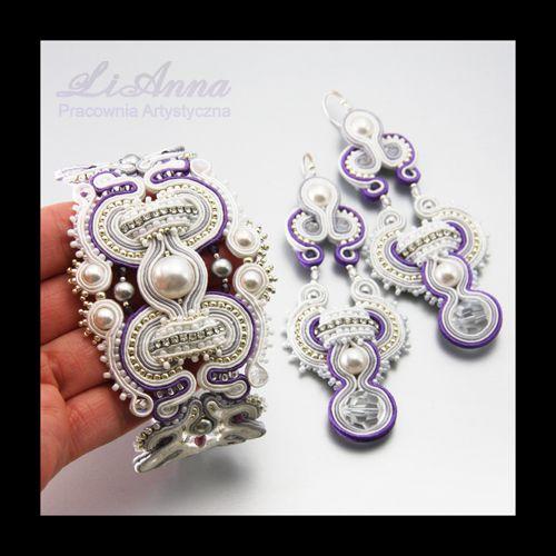 377/378 sutasz soutache kolczyki - biżuteria ślubna