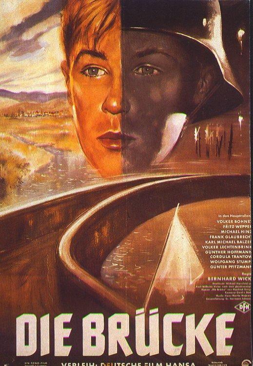 El puente [Die Brücke]. Alemania, 1959. Dir. Bernhard Wicki. Int.: Folker Bohnet, Fritz Wepper, Michael Hinz, Frank Glaubrecht, Karl Michael Balzer.