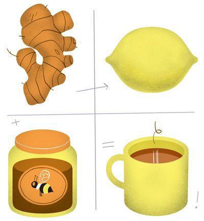 remedy...plus, it just tastes heavenly! : Asthma Drinks, Fitness, Teas, Food, Ginger Tea, Hot Tea, Tea Drinks, Lemon