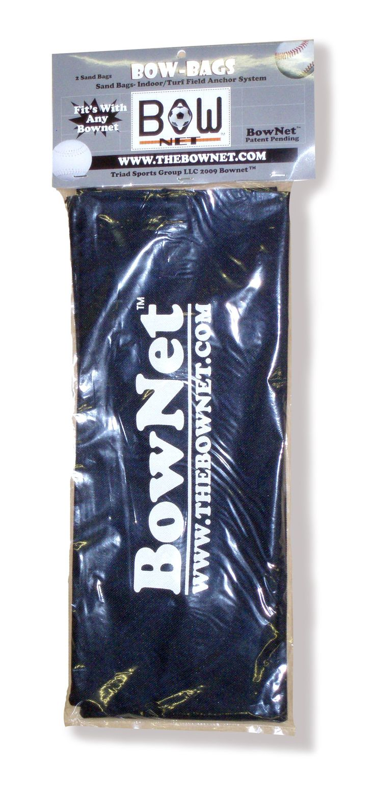 Bownet U-Fill Sandbags, Two Pack. Can be used for gym or turf fields to aid in stabilizing any Bownet training, soccer, or protection net. Easily attach the sandbag to the steel ring at the end of the bungee cord on your Bownet net. Internal resealable plastic bag makes filling and emptying the bag easy. Constructed from nylon with durable adjustable strap to double as a carrying handle. Includes two sand bags and filling instructions.