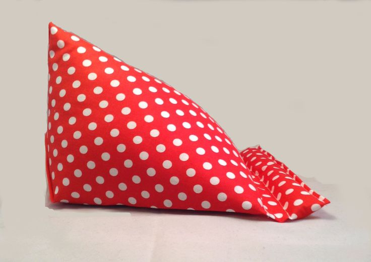 polka dot ipad stand, ipad cushion stand, tablet cushion, kindle cushion by ZebraCreationsUK on Etsy