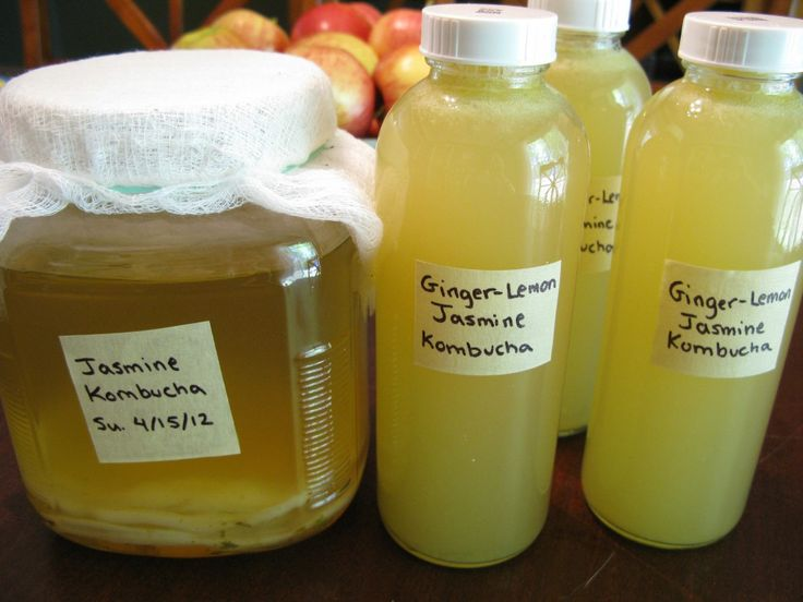 Ginger-Lemon Jasmine Kombucha - The Paleo Mom