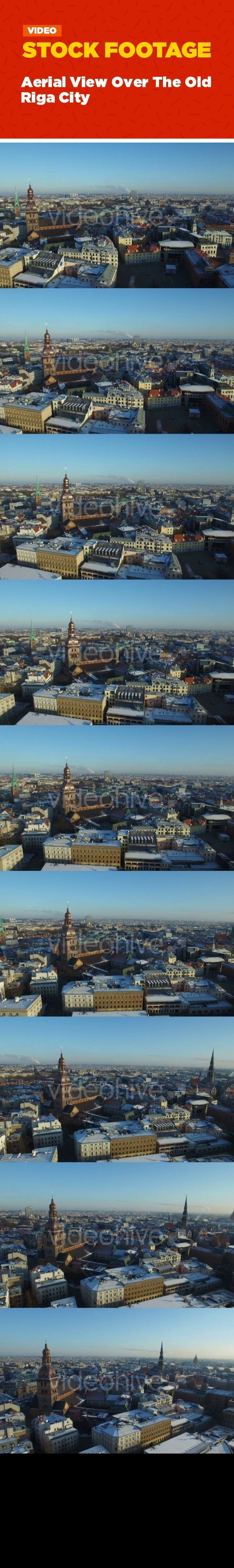 aerial, architecture, baltic, city, cityscape, europe, latvia, latvian, old, riga, river, rooftops, tourism, town, view Aerial view over the Old Riga City, Latvia