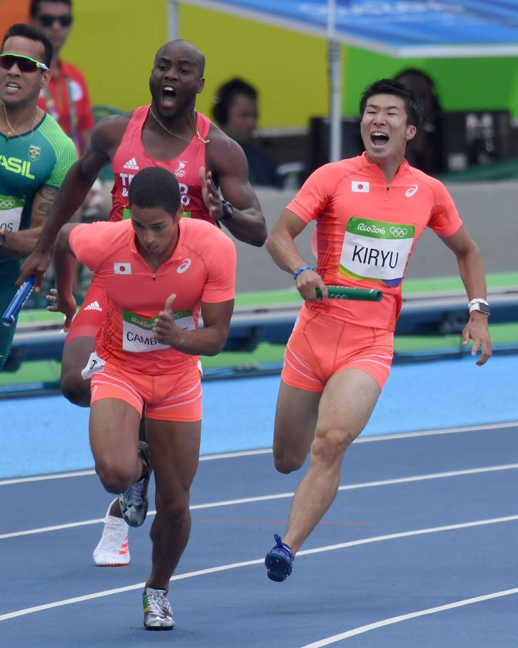 <五輪陸上>男子400リレー 日本、日本新で決勝へ #リオ五輪 #陸上