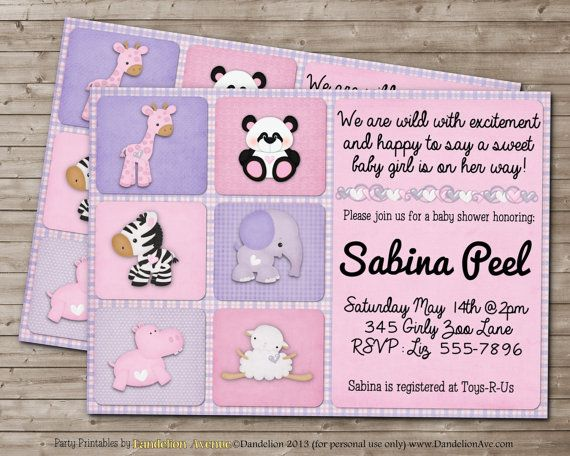 best baby shower ideas images on   animal baby, Baby shower invitation