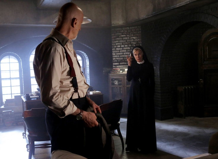 James Cromwell as Dr. Arthur Arden, Jessica Lange as Sister Jude