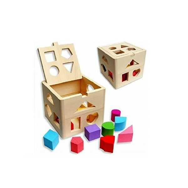 Educational Toy Wooden Building Block Toddler Toys for Boys Girls Learning Tool