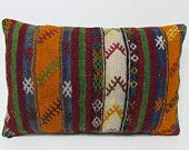 16x24 kilim pillow turkish pillow cover kilim pillow lumbar novelty pillow cover sofa cushion cover bed cushion cover modern pillow 25548