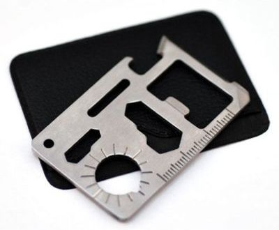 10-In-1 Multi Survival Camping Tool Stainless Credit Card  www.GadgetPlus.ca