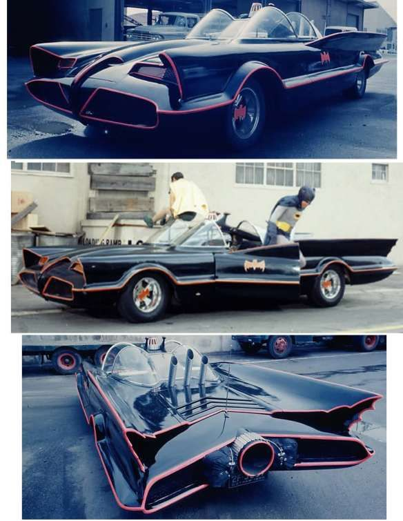 Original Batmobile circa 1966. Based on the 1955 Lincoln Futura concept.