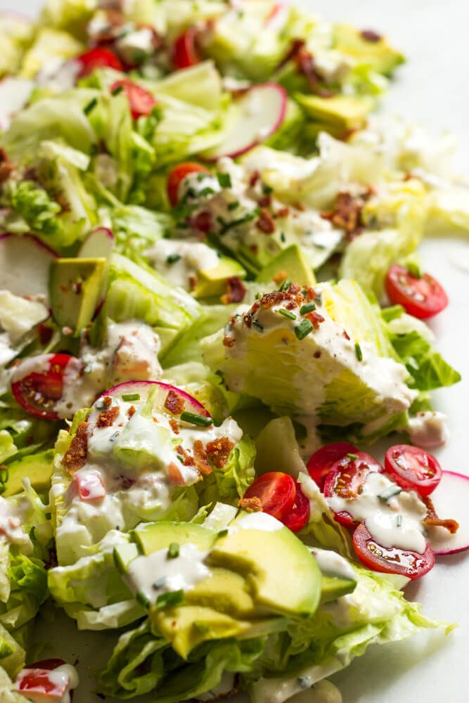 Chopped Wedge Salad With Buttermilk Feta Dressing Little Broken Recipe Wedge Salad Wedge Salad Recipes Easy Chopped Salad