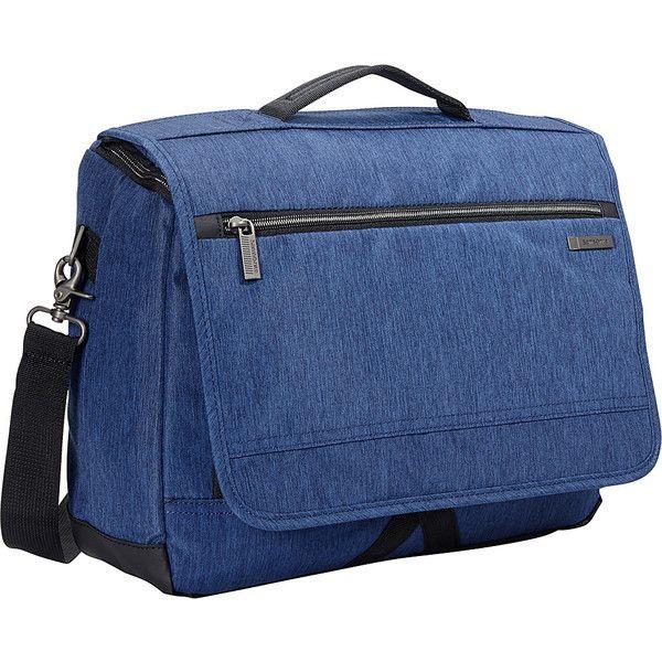 Samsonite Modern Utility Laptop Messenger Bag - True Navy - Messenger... ($48) ❤ liked on Polyvore featuring men's fashion, men's bags, men's messenger bags, blue and mens laptop messenger bag