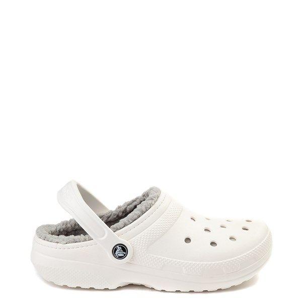 Crocs Classic Fuzz-Lined Clog - White