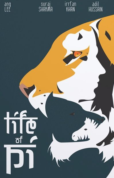 Life of Pi (2012) ~ Minimal Movie Poster by My Kim Bui #amusementphile