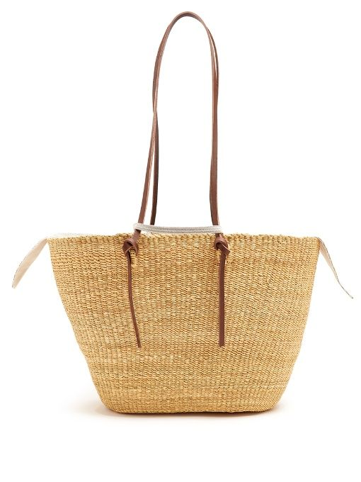 d6bcd4265 MUUN Racco large woven-straw tote. #muun #bags #leather #hand bags #lining # tote #cotton #