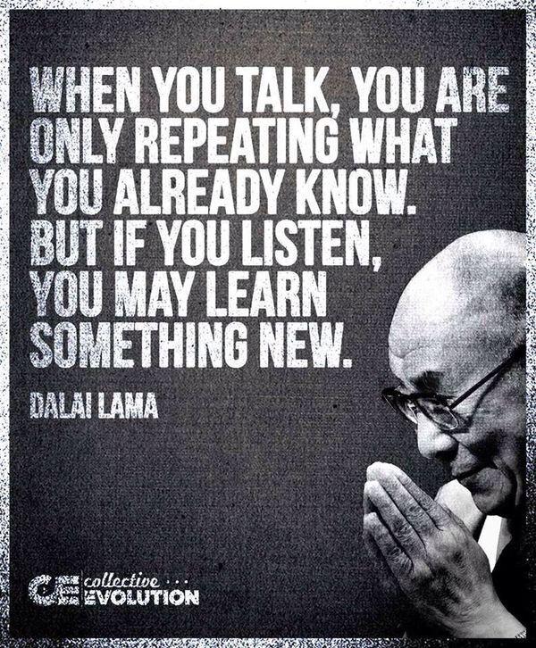 Ya, shut that big, loud mouth and listen...
