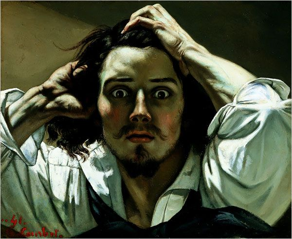 The Desperate Man (Self-Portrait) - Gustave Courbet - 1845 - private collection - oil on canvas