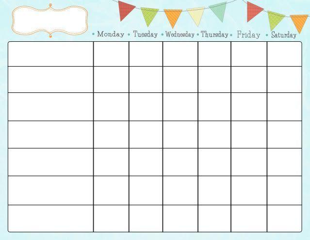 Free Printable Chore Charts   Kiddo Shelter